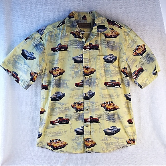 Clearwater Outfitters Shirt M Yellow Classic Cars